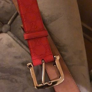 Accessories - Red Gucci women belt